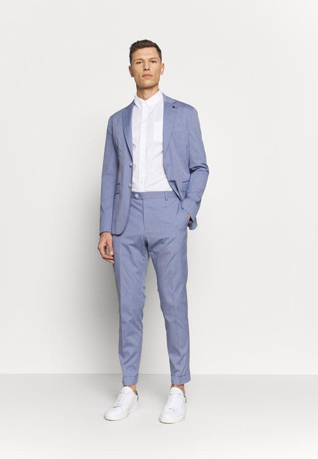 MINI STRIPE FLEX SLIM FIT SUIT - Dress - blue