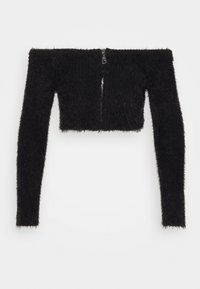 The Ragged Priest - EYELASH BARDOT ZIP - Jumper - black - 4