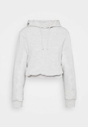 YANKEE QUILT HOODIE - Sweatshirt - grey