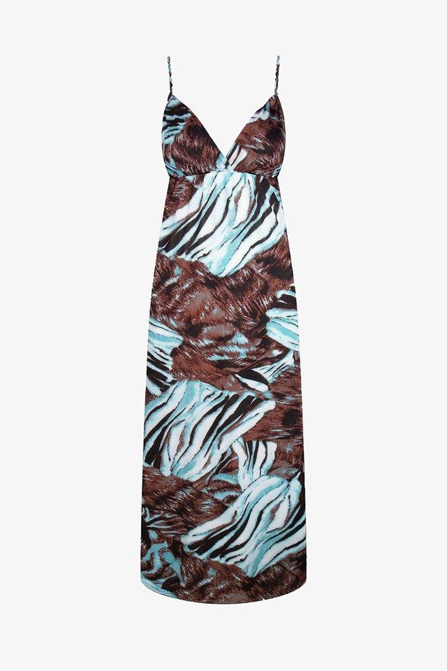 TIZE  - Vestito lungo - aqua taupe