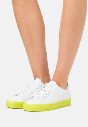 TYPE - Sneakers laag - white/neon yellow