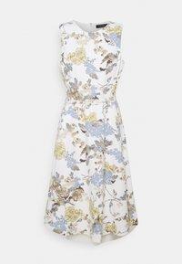Lauren Ralph Lauren - TECH CREPE DRESS - Robe en jersey - cream/blue - 0
