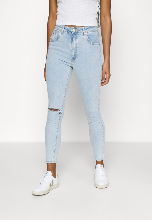 HIGH RISE CROPPED - Jeans Skinny Fit - addis blue