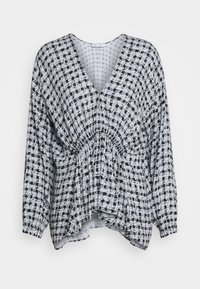 Proenza Schouler White Label - PRINTED GEORGETTE LONG SLEEVE BLOUSE - Blůza - light blue/black - 0