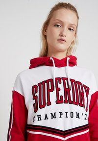 Superdry - COLLEGE HOODED DRESS - Day dress - burnt red/ice marl - 3