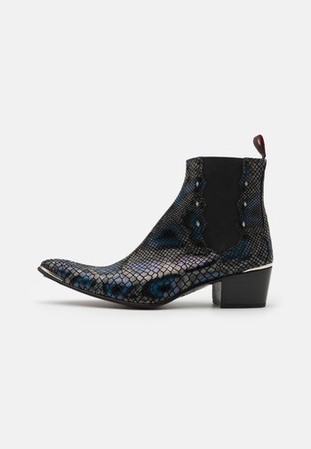 SYLVIAN NEW CHELSEA UNISEX - Cowboy/biker ankle boot - black navy/silver