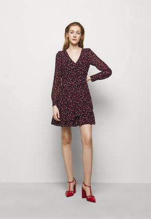 FLORAL PRINTED MINI DRESS  - Denní šaty - berry