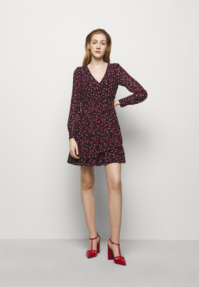 FLORAL PRINTED MINI DRESS  - Robe d'été - berry