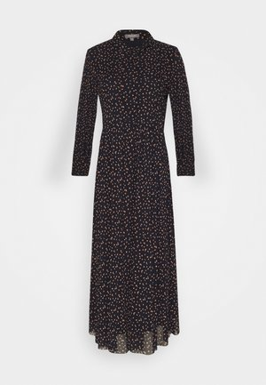 DRESS MIDI  - Robe d'été - navy/orange
