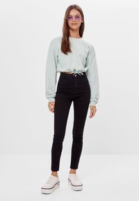 Bershka - Jeggings - black - 1