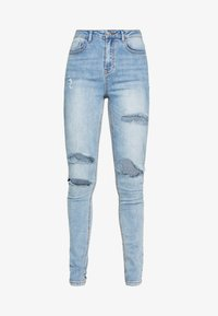 Missguided Tall - SINNER WAISTED AUTHENTIC RIPPED MID - Jeans Skinny Fit - blue - 4