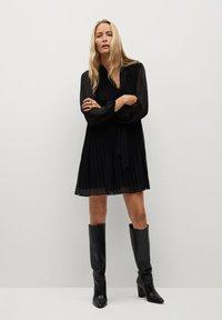 Mango - LACITO - Day dress - black - 1
