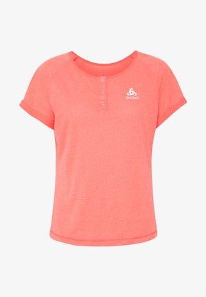 CREW NECK ELEMENT - Print T-shirt - hot coral melange
