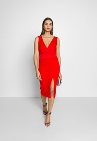 WAL G. - LAYERED MIDI DRESS - Cocktailkjole - red - 1