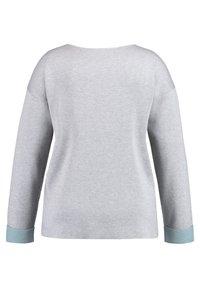 Samoon - MIT WORDING - Jumper - frost grey gemustert - 4