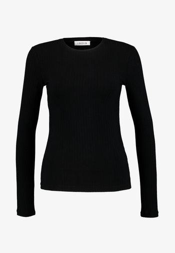 GINGER LONGSLEEVE - Long sleeved top - black