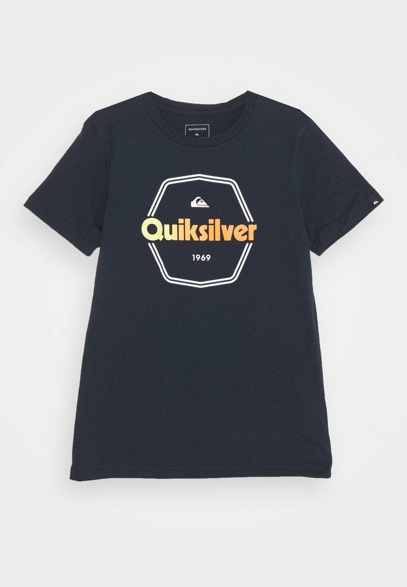 Quiksilver - HARD WIRED  - Printtipaita - navy blazer