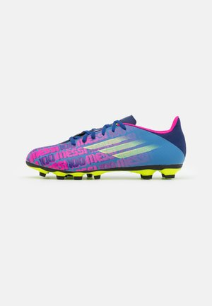 X SPEEDFLOW MESSI.4 FXG - Moulded stud football boots - victory blue/shock pink/solar yellow