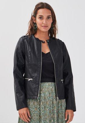 MIT REISSVERSCHLUSS - Faux leather jacket - black