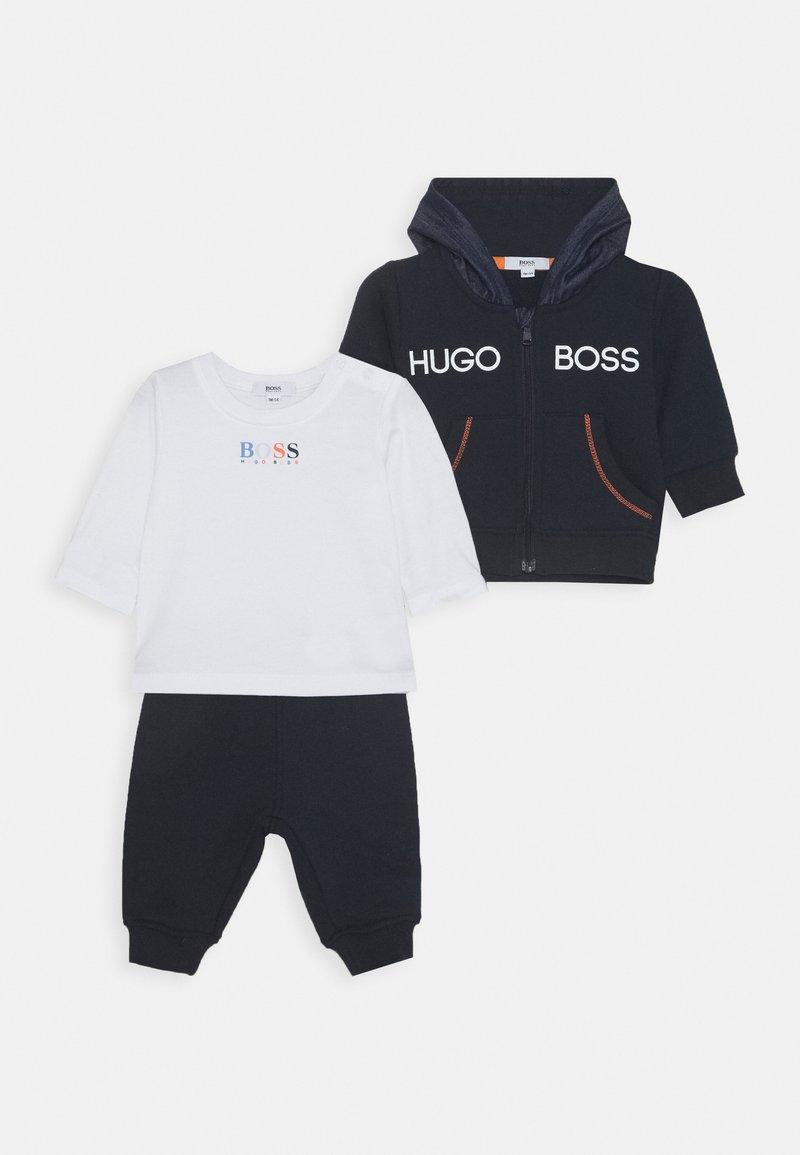 BOSS Kidswear - BABY SET - Mikina na zip - navy