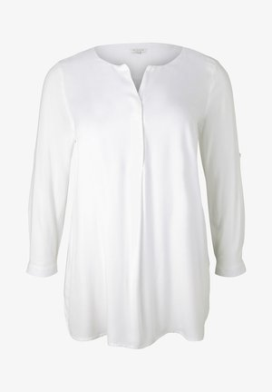 WITH NECK DETAILS - Long sleeved top - whisper white