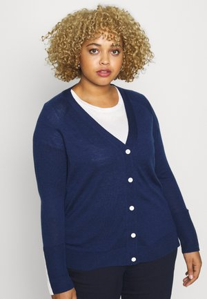 BUTTON DOWN CARDIGAN - Chaqueta de punto - navy