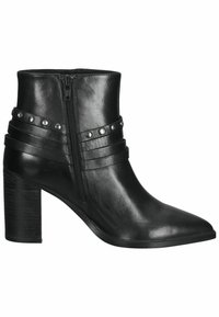 SPM Shoes & Boots - Enkellaarsjes met hoge hak - black leather - 6