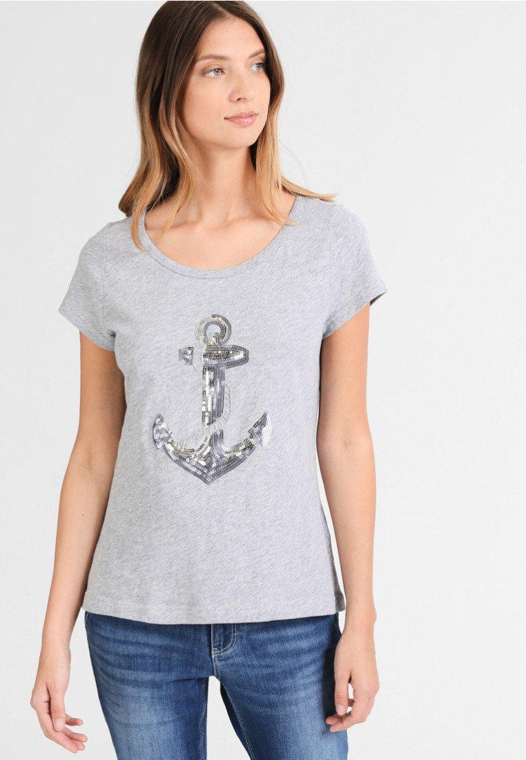 DreiMaster T-shirt imprimé - mottled grey - Tops & T-shirts Femme 3CGZF