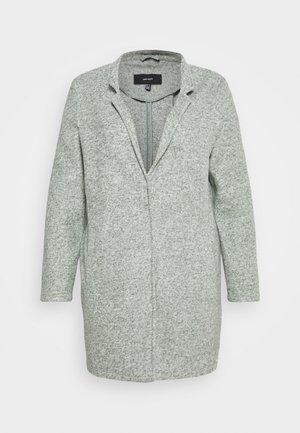 VM BRUSHED KATRINE - Short coat - black/forest melange