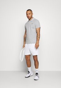 Lacoste Sport - DETAILED COLLAR - Polo - silver chine/white - 1