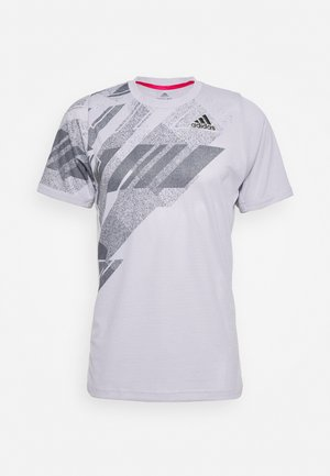 FLIF  - Print T-shirt - grey/pink