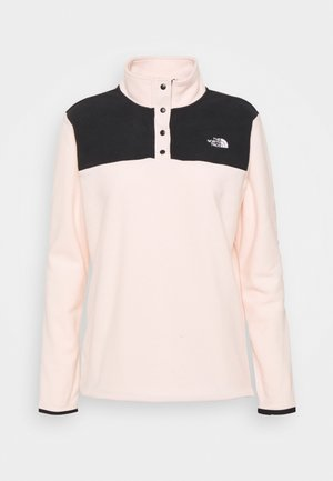 GLACIER SNAP NECK - Fleece trui - pearl blush/black