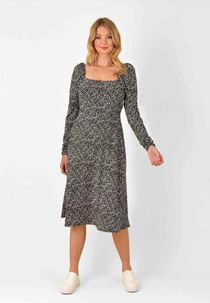 PEBBLE PRINT JERSEY - Day dress - black/white