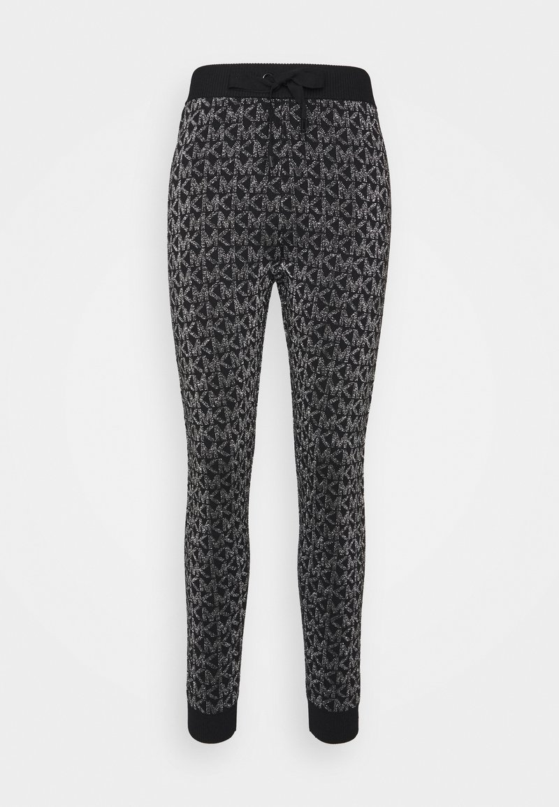 MICHAEL Michael Kors - Tracksuit bottoms - black/silver