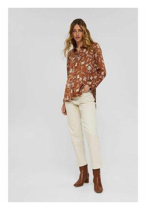 Button-down blouse - terracotta