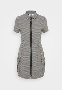 The Ragged Priest - HOUNDSTOOTH SHIRT DRESS STRAPPED POCKETS - Day dress - black/white - 4