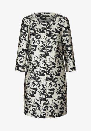 JACQUARD BLAZER - Short coat - creme schwarz