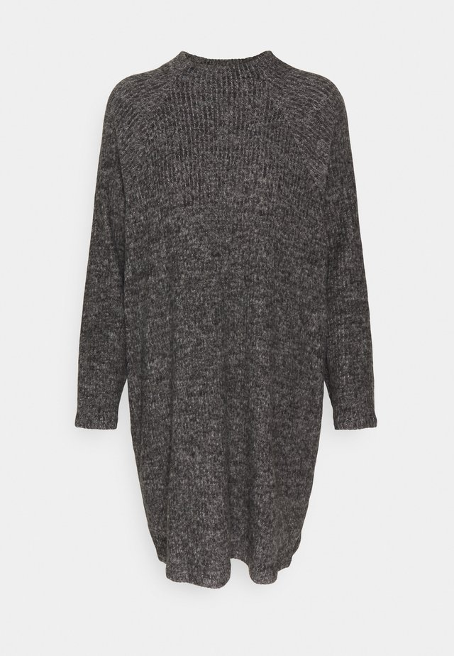 VMTAMMI HIGH NECK  - Jumper dress - dark grey melange