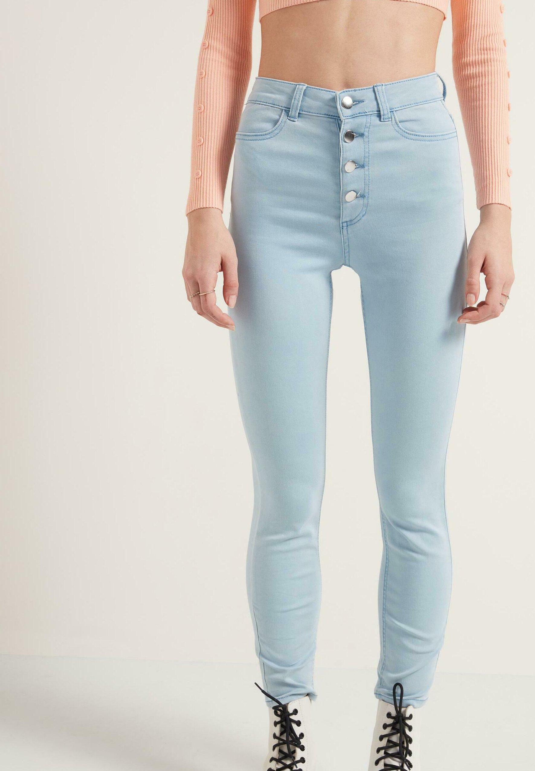 Damen PASSFORM, HOHEM BUND UND KNÖPFEN - Jeans Skinny Fit