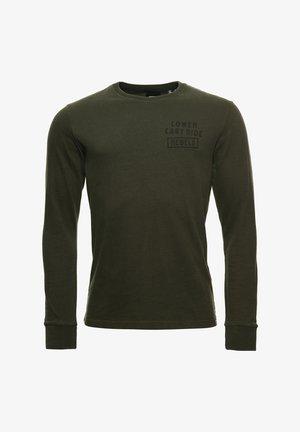 Long sleeved top - dark grey green