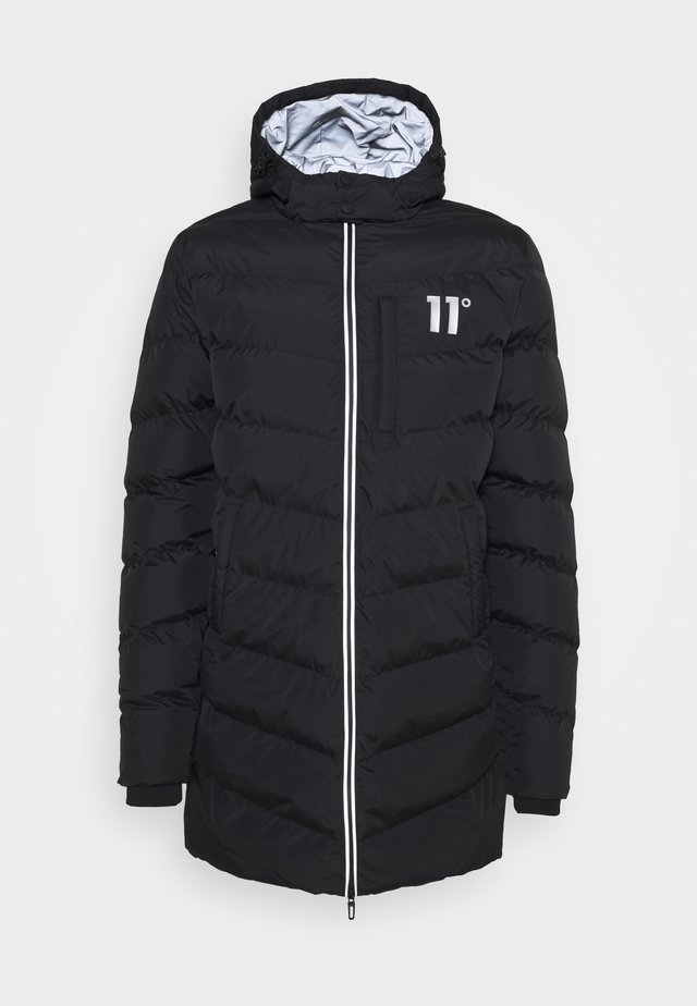 LONG LINE CHEVRON PUFFER - Cappotto invernale - black
