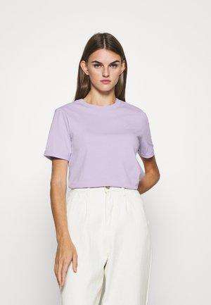 PCRIA FOLD UP TEE - Basic T-shirt - purple heather