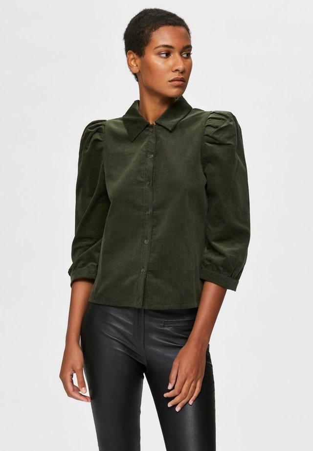 PUFFÄRMEL CORD - Button-down blouse - rosin