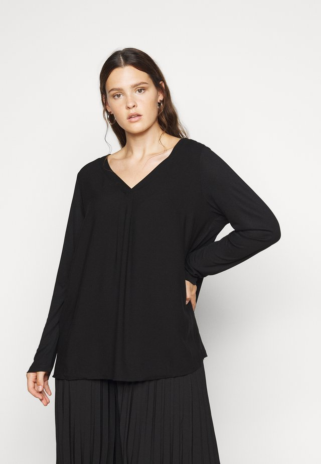 Long sleeved top - deep black