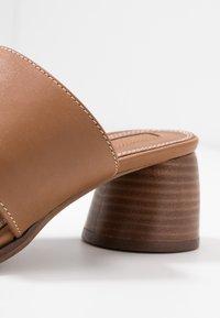 Topshop - VILLAGE TOE LOOP - T-bar sandals - tan - 2