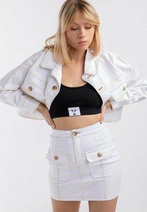 BOHO - Spódnica jeansowa - white