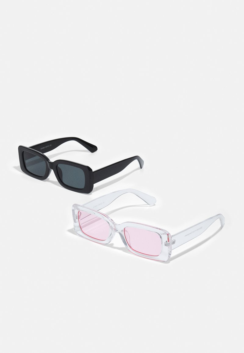 Only & Sons - ONSSUNGLASS 2 PACK UNISEX - Sunglasses - black/black /pink/transparent