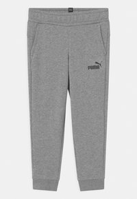 Puma - LOGO UNISEX - Tracksuit bottoms - medium gray heather - 0