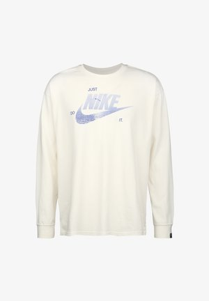 Long sleeved top - white/blue