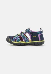 Keen - SEACAMP II CNX UNISEX - Chodecké sandály - black iris/african violet - 0